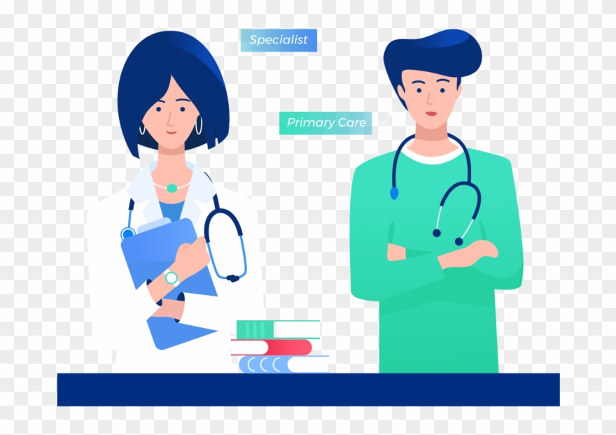 Specialist standing with . Clipart doctor primary care physician