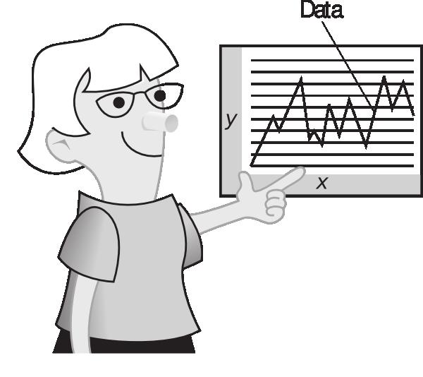 Graph clipart data student. Explain teacher explaining chart