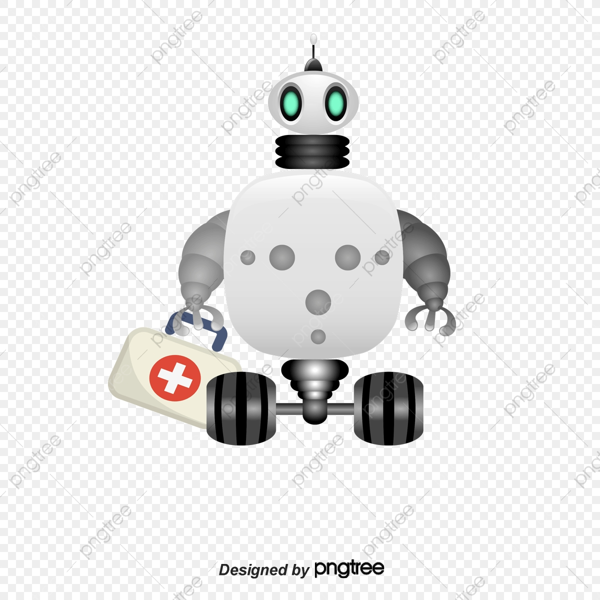 White doctors hospital png. Clipart doctor robot