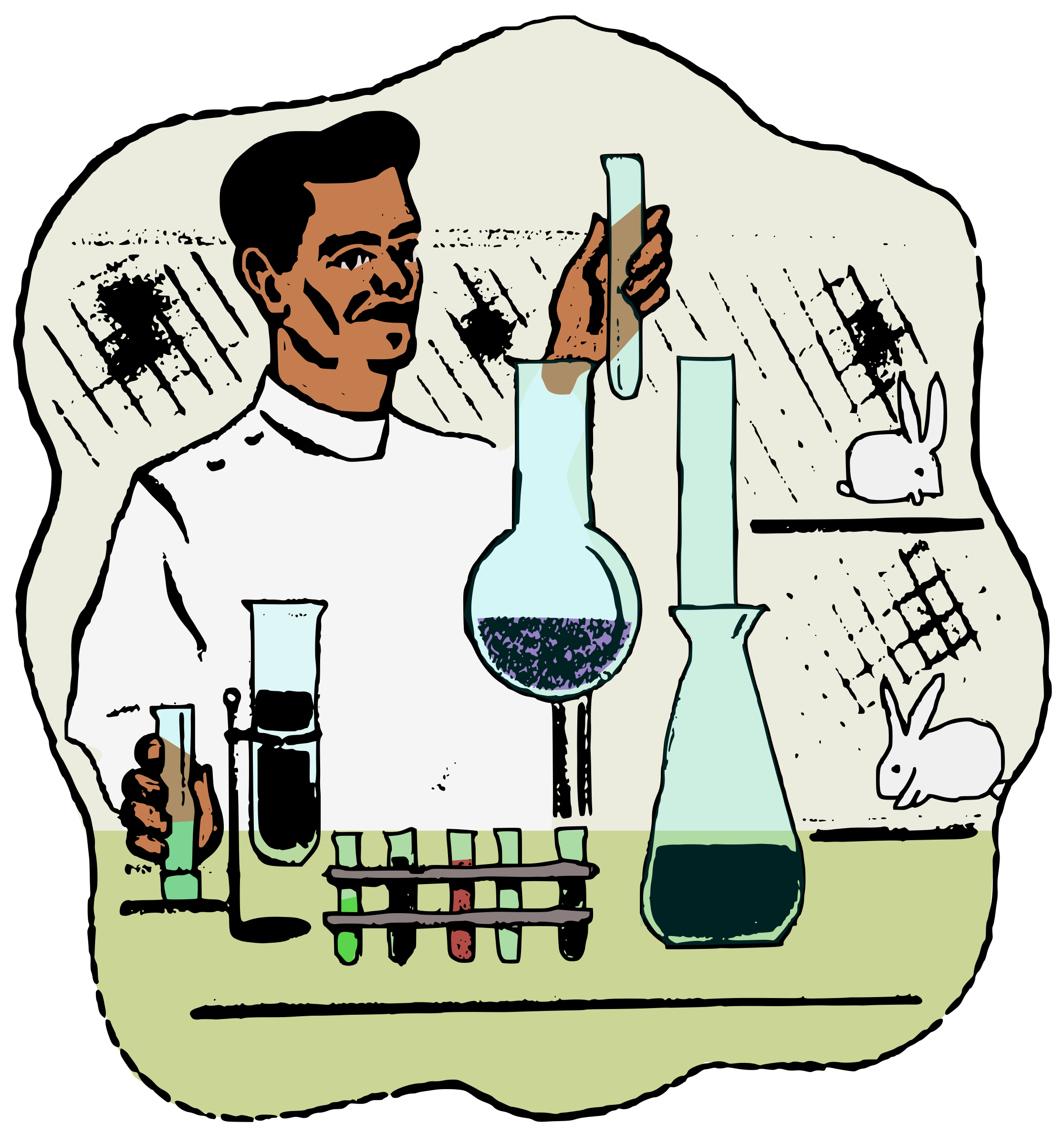 Laboratory male free on. Doctor clipart scientist