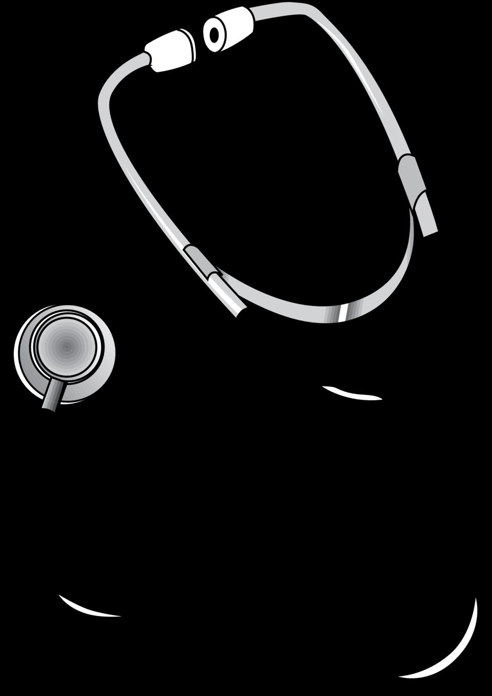 Nurse clipart stethoscope. Public domain clip art