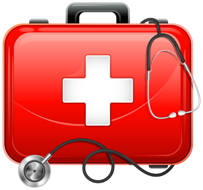 Medical clipart medical field. Bag and stethoscope png