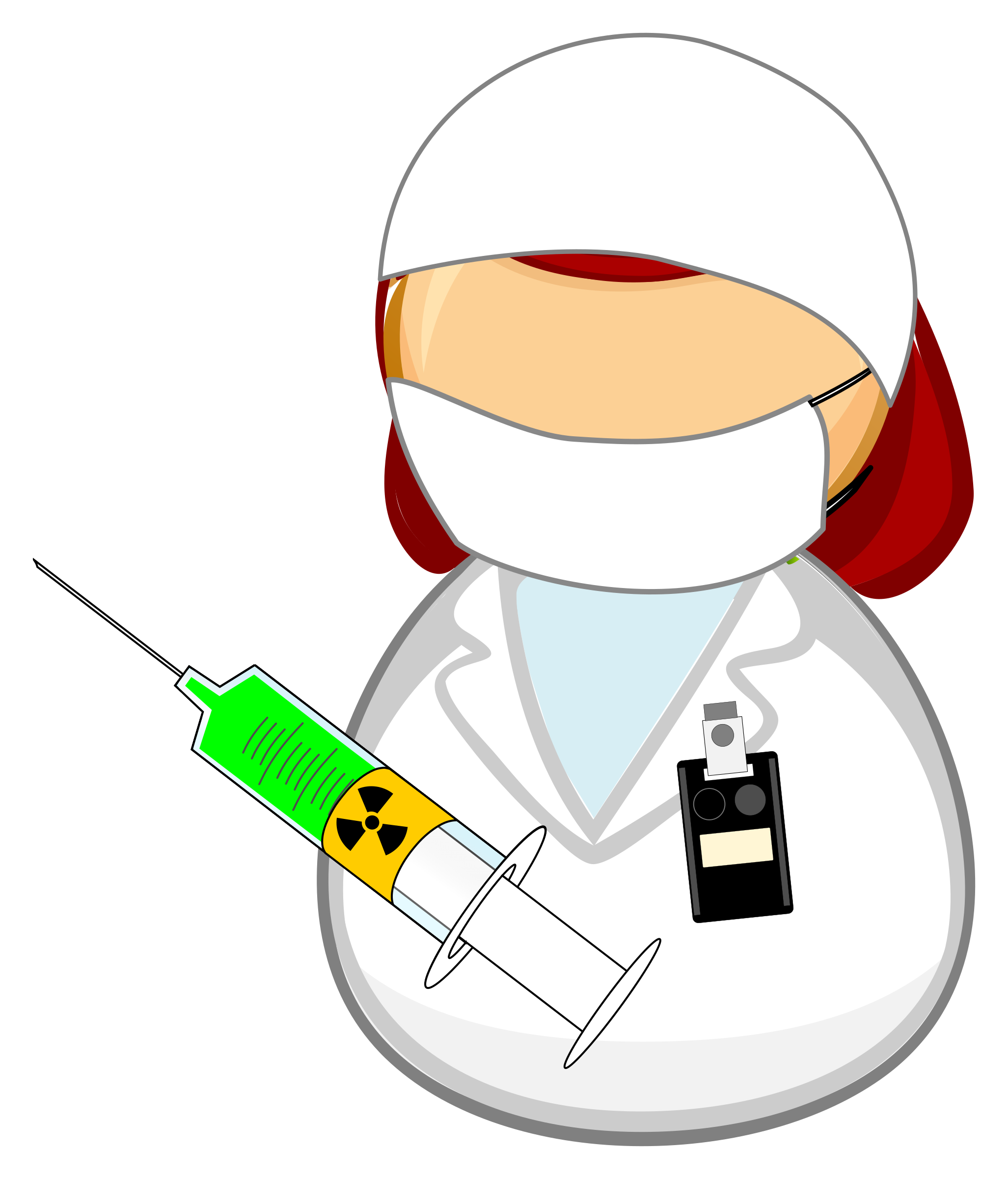 Nuclear medicine worker big. Patient clipart medical facility