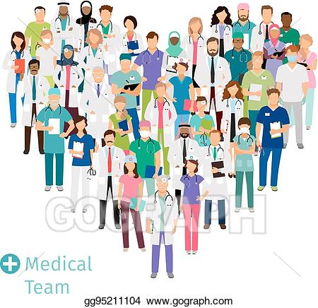 Professional clipart staff. Vector stock healthcare medical