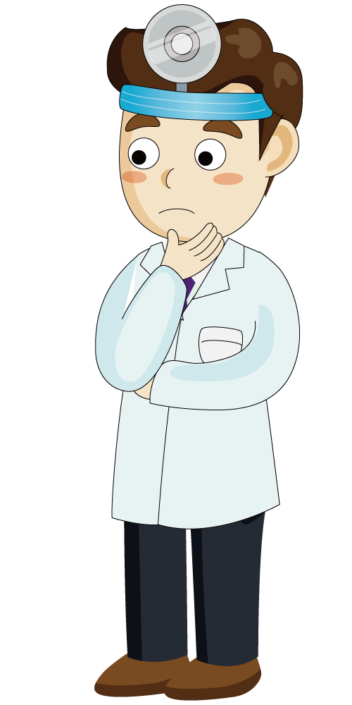Clipart doctor thinking. Physician illustration the is