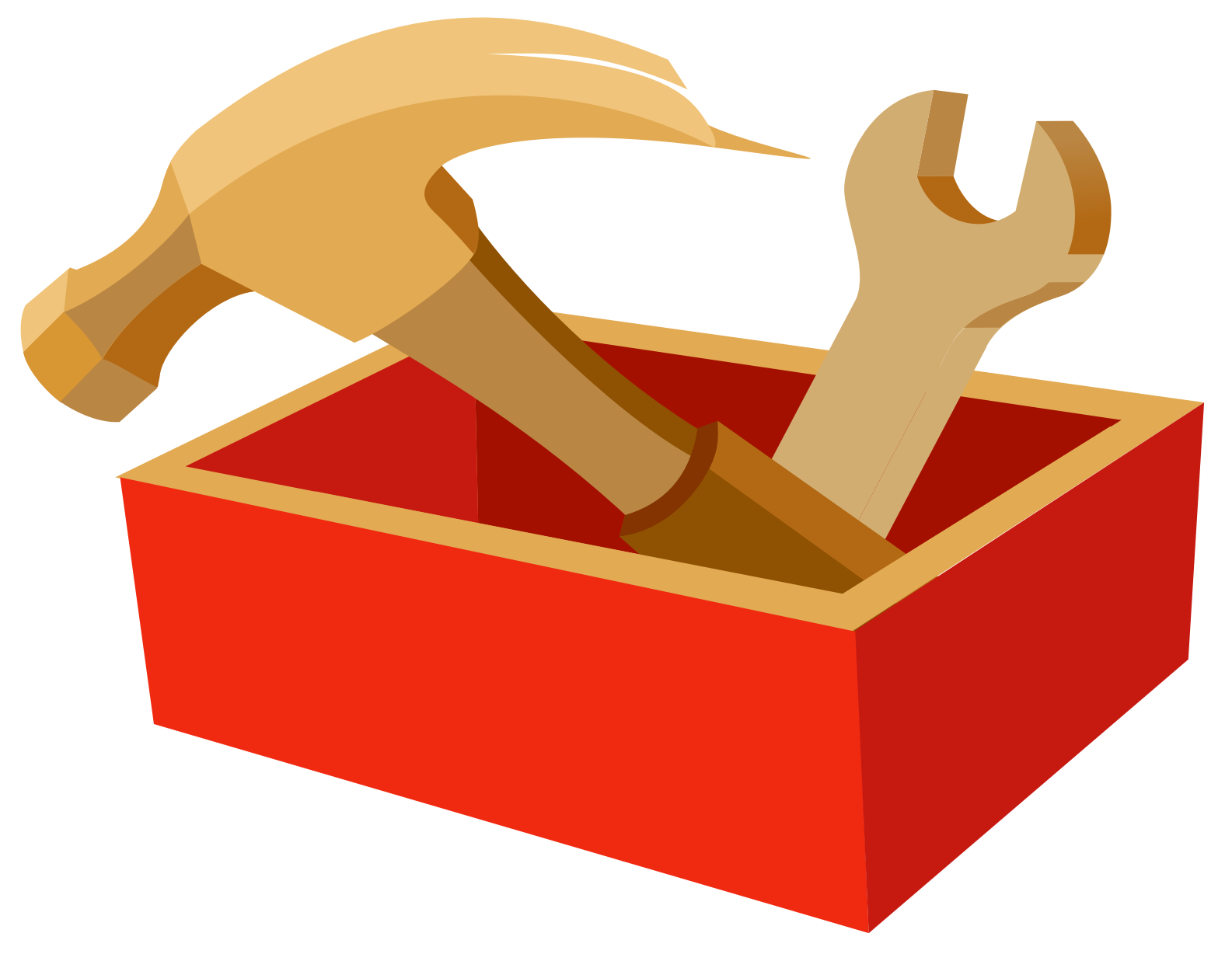 Tool box. Thumb clipart inch