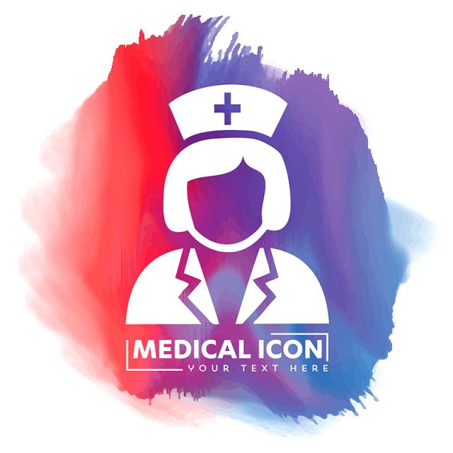 Nurse doctor vector assistant. Doctors clipart icon