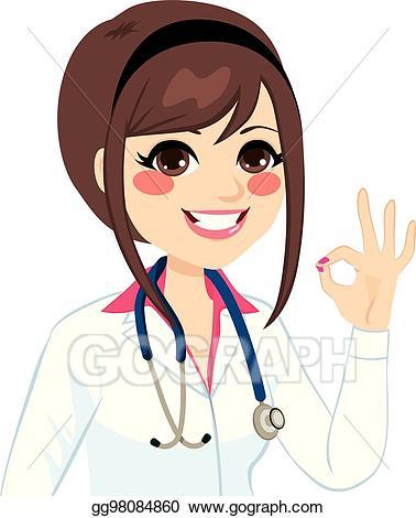 Vector stock female ok. Clipart doctor woman doctor