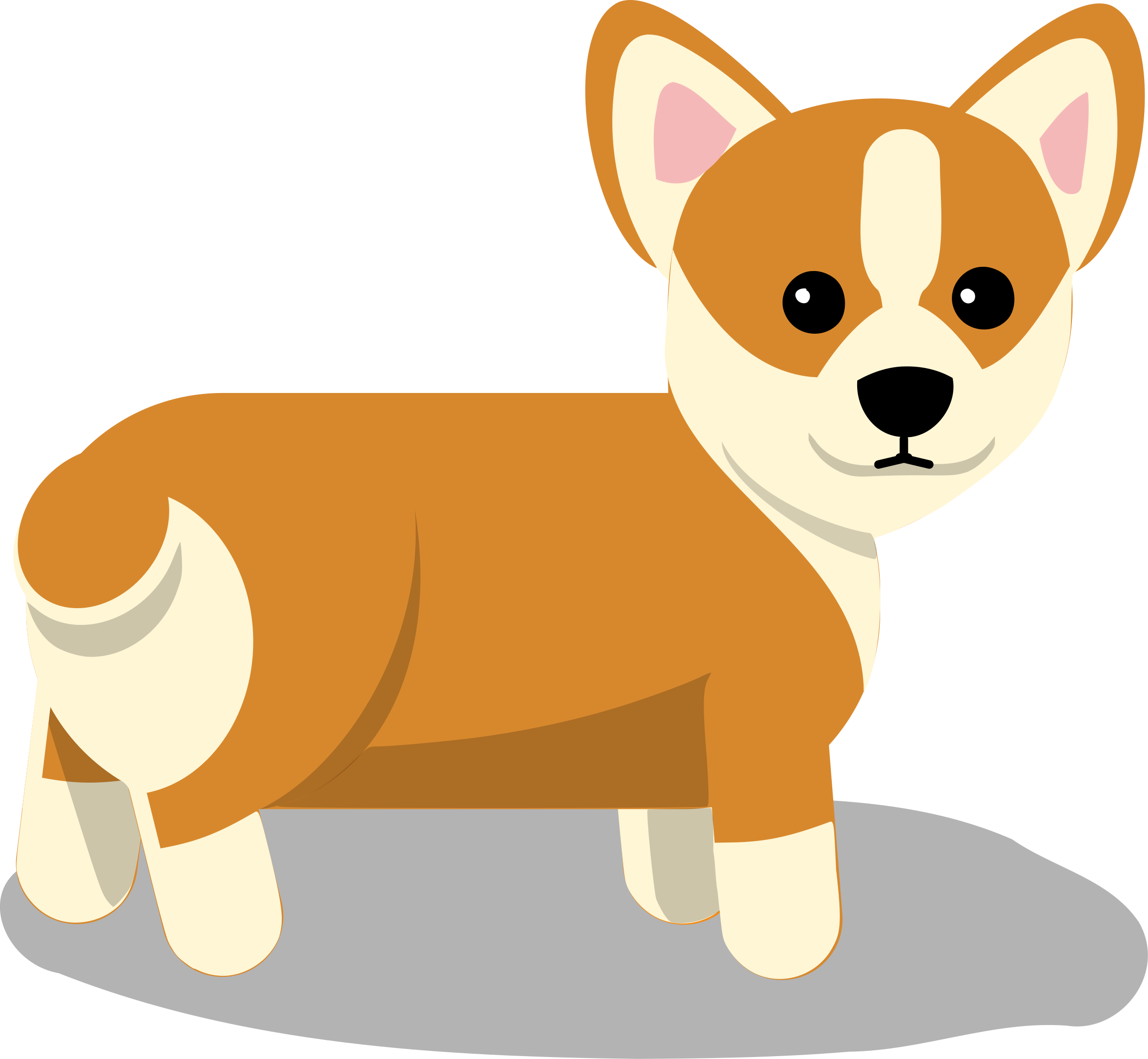 Pet clipart one dog. Corgi silhouette clip art
