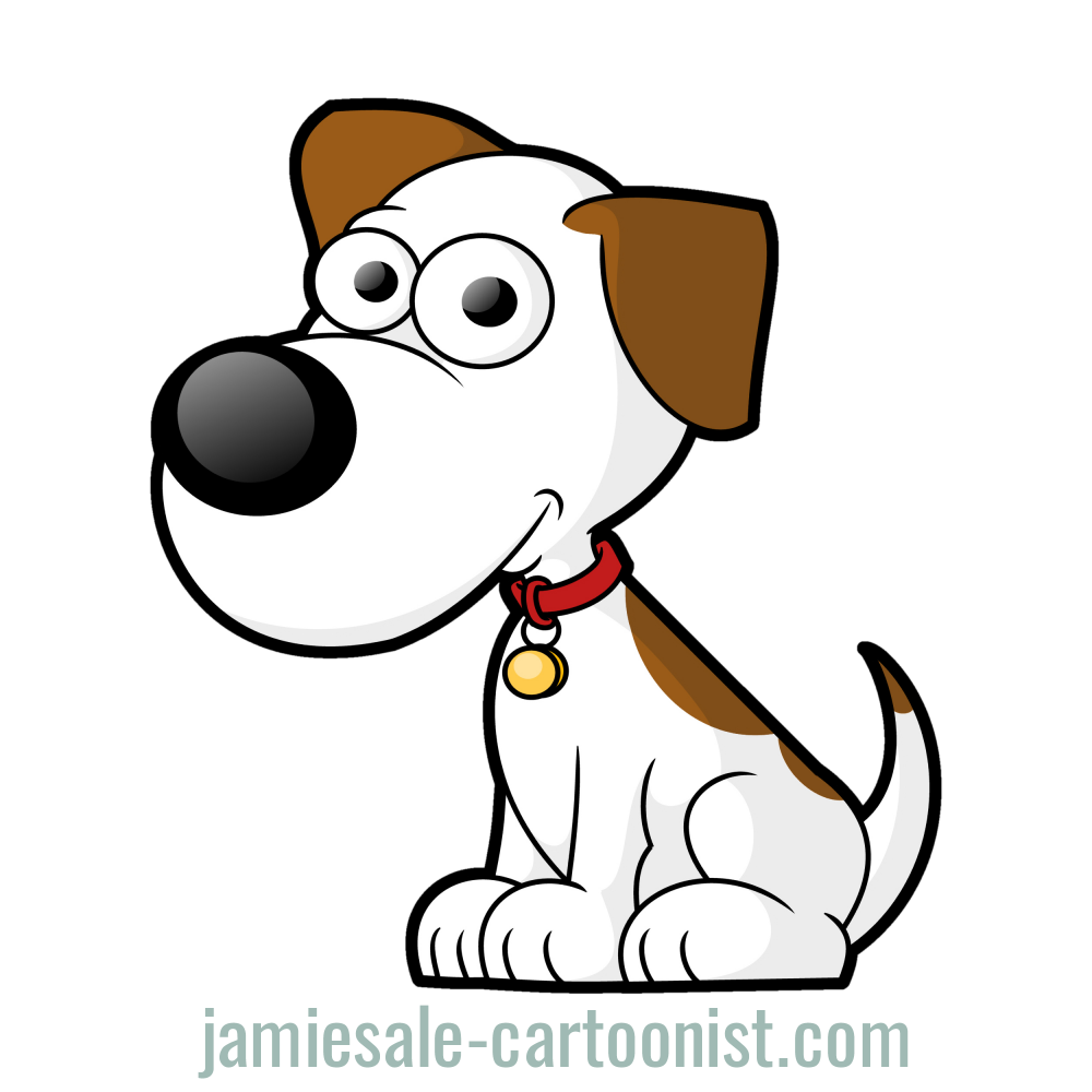 Clipart dog. Free cartoon vector clip