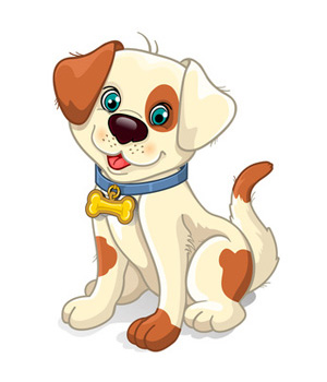 Tan brown cartoon clip. Clipart dog