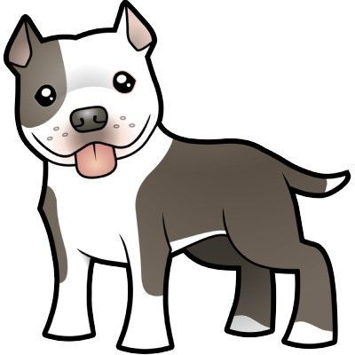 Clip art of a. Clipart puppy pit bull