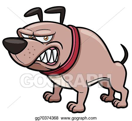 Clipart dog angry. Vector art drawing gg