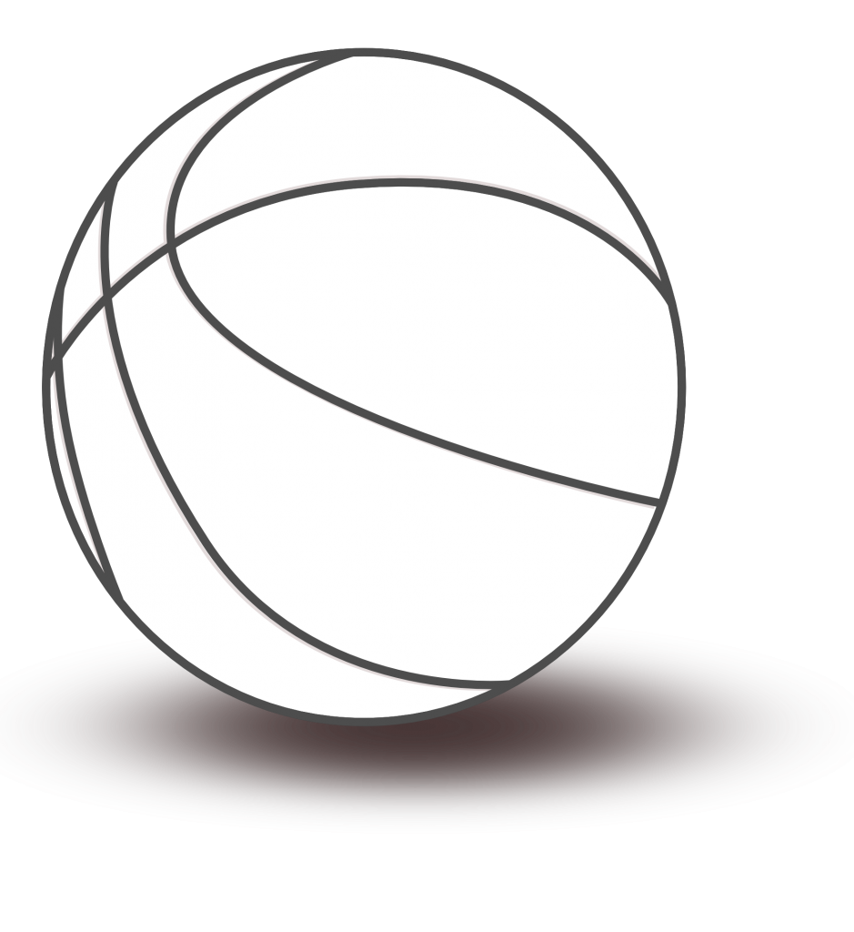 Black and white house. Clipart dog basketball