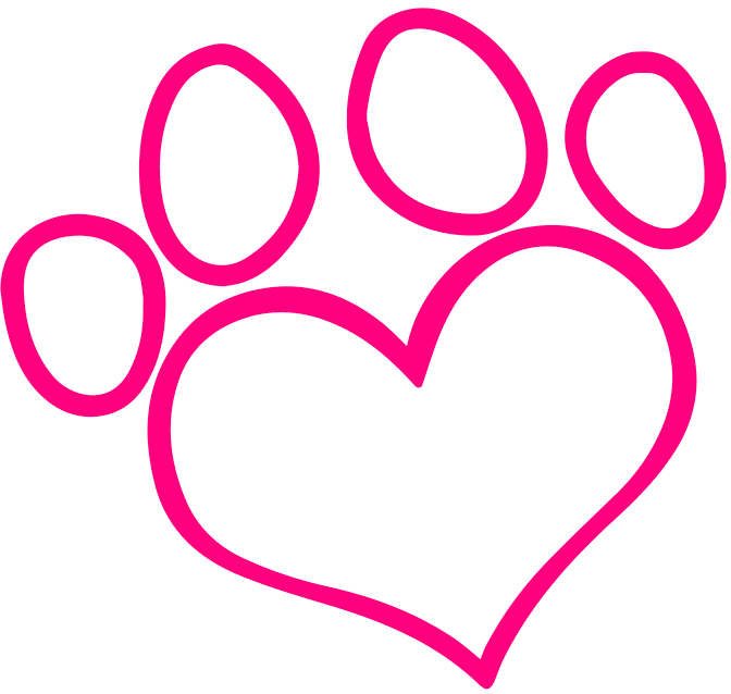 Dog grooming group best. Pet clipart heart