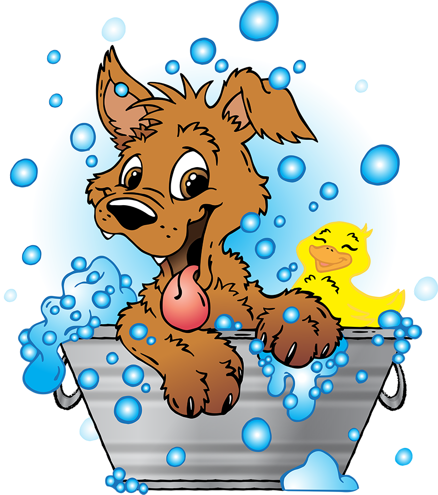 Clipart Dog Bath Tub, Clipart Dog Bath Tub Transparent