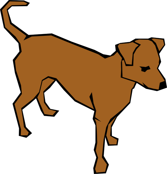 Picture clipart dog. Brown clip art at