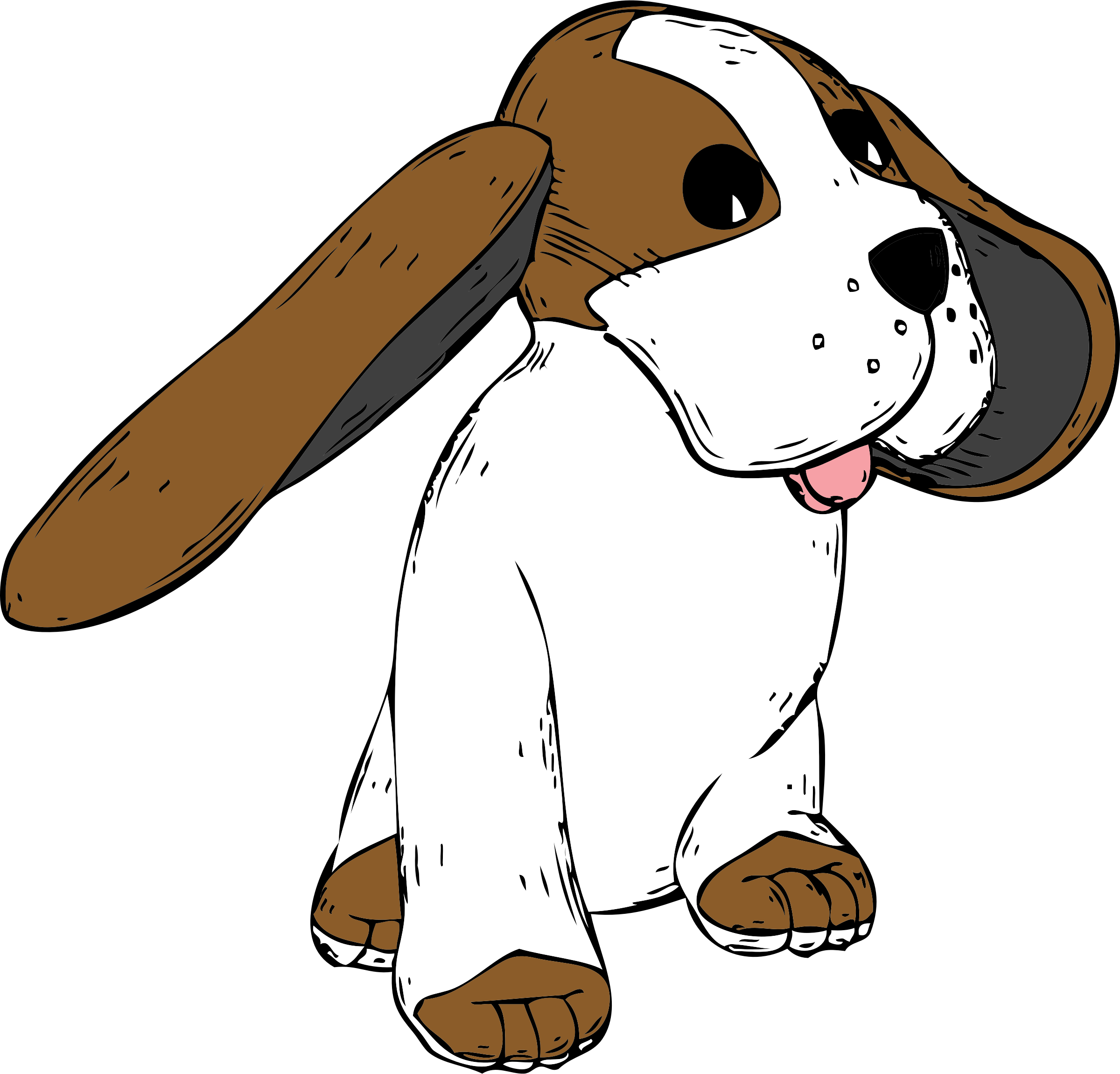 Big earred dog image. Pet clipart beagle