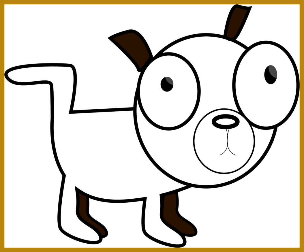 Clipart dog black and white. The best sad puppy
