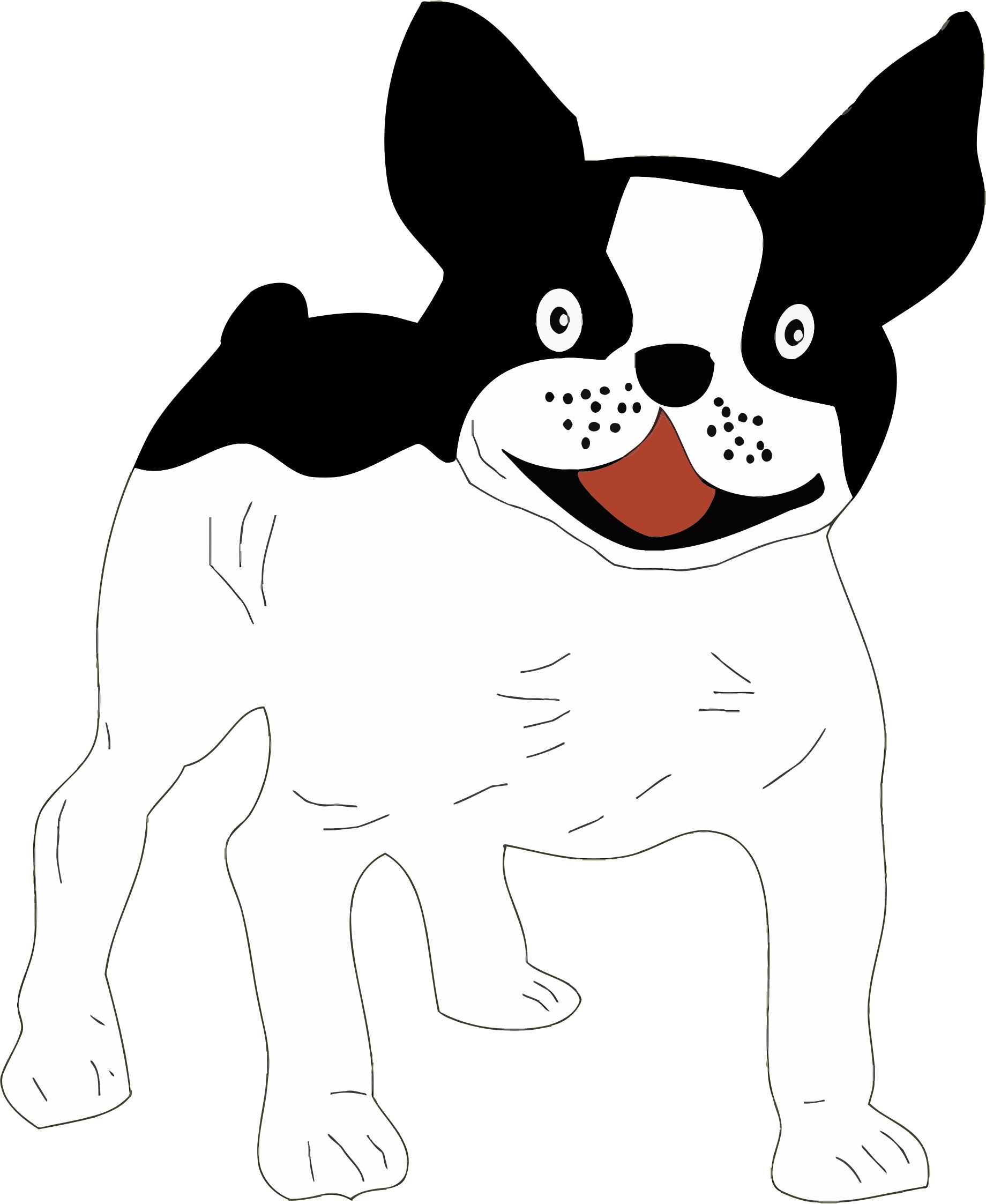 Clipart dog black and white. Big image png