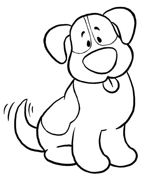 Free download clip art. Clipart dog black and white
