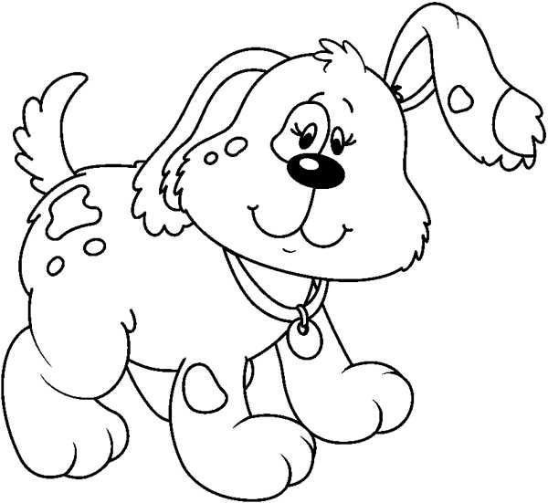 Gallery for scrap booking. Clipart dog black and white