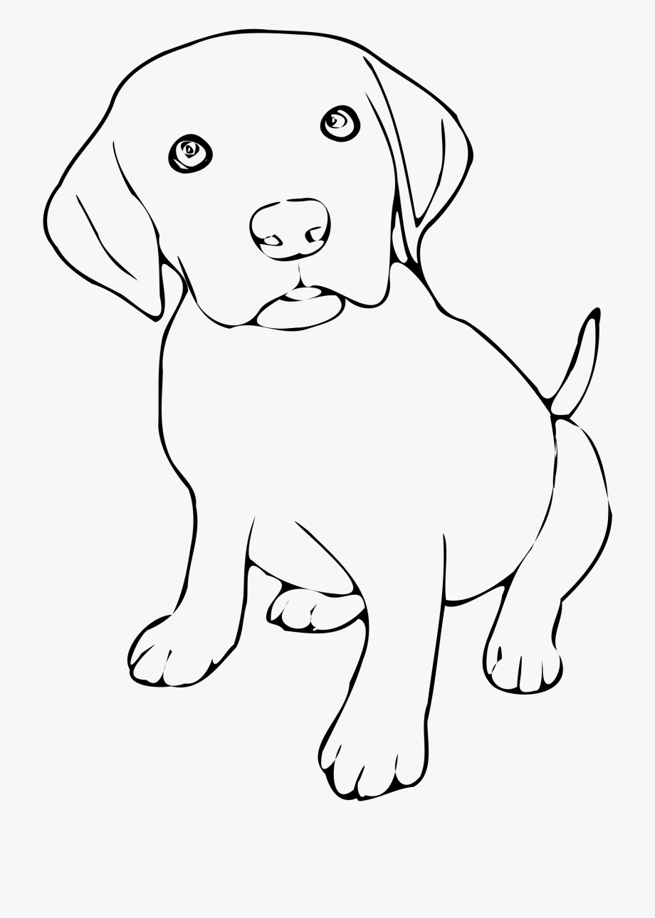 Puppy . Pet clipart black and white