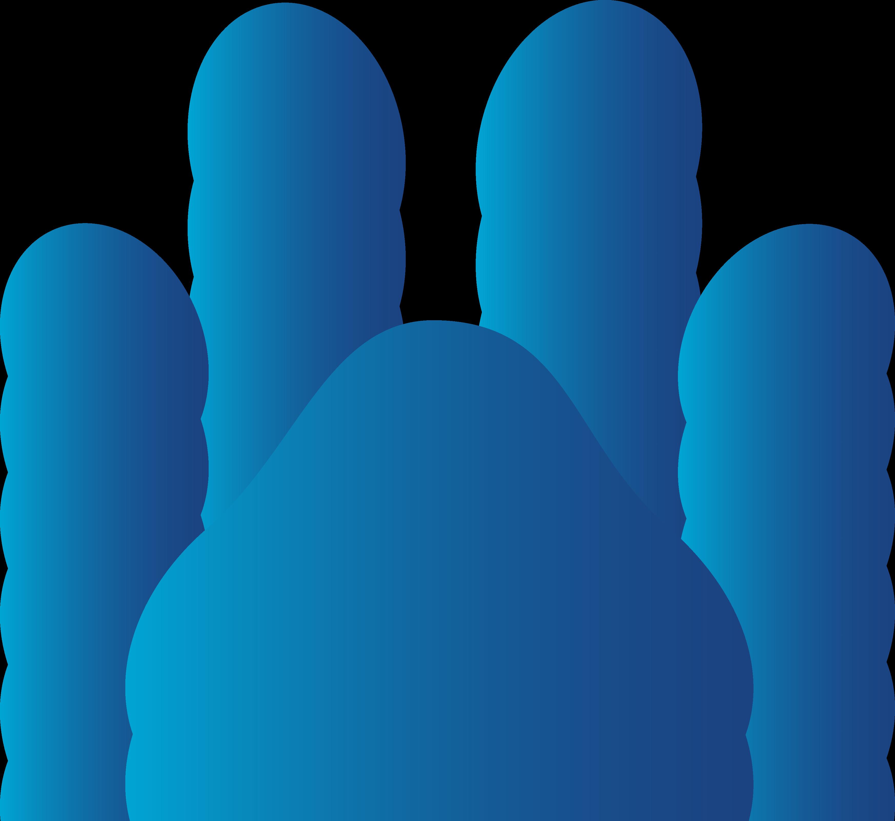 Pawprint clipart cat. Blue dog paw print