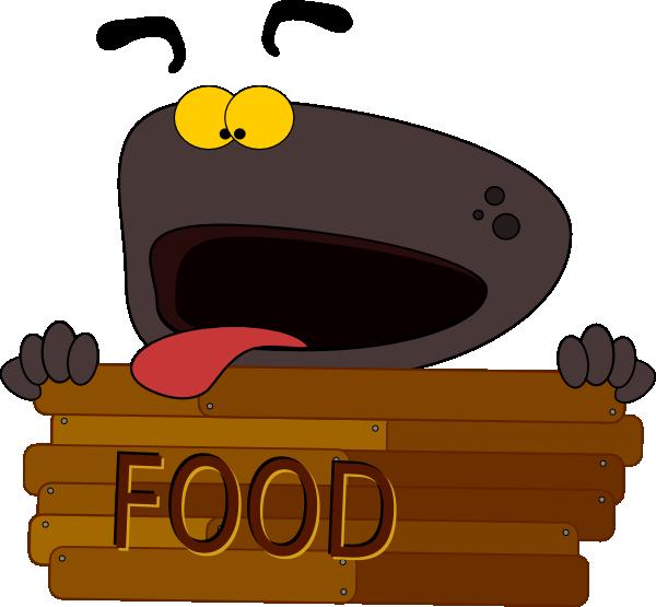 Hungry clip art at. Dog clipart character