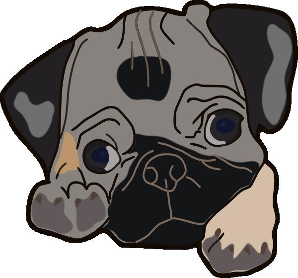 Face clip art at. Clipart dog boxer