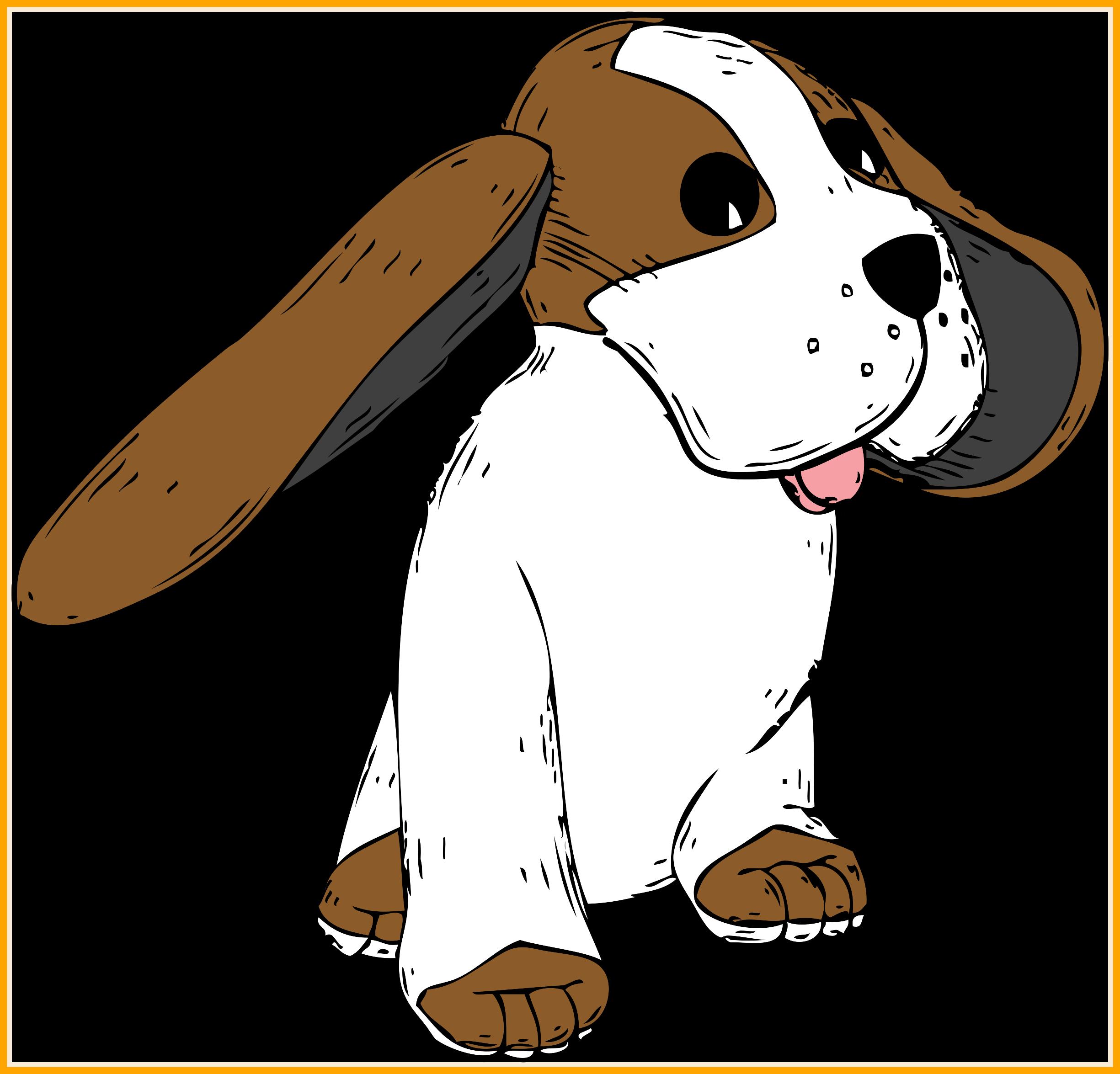 German clipart cartoon. Stunning dog breeds stock