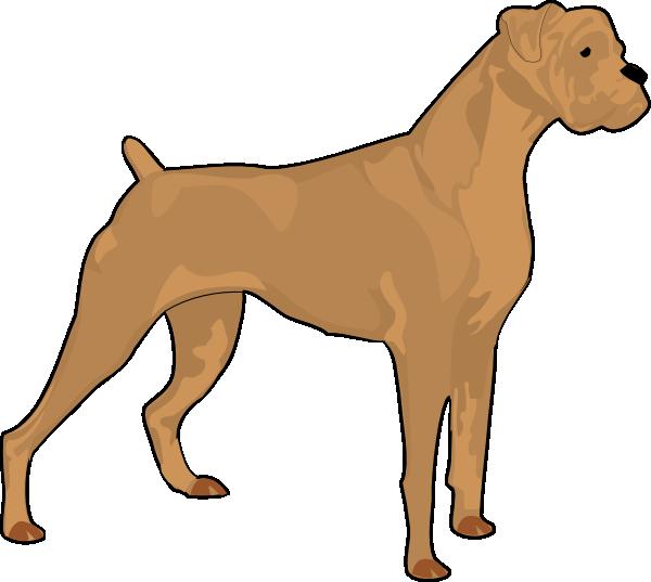 Clipart dog boxer. Brown clip art at