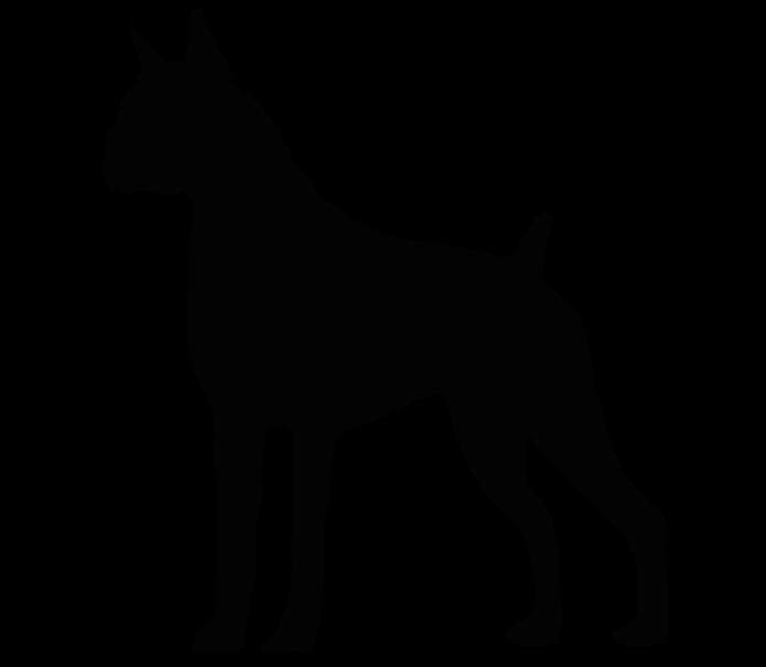 clipart dog boxer