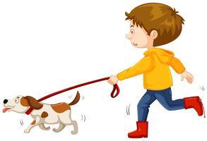 Dogs clipart boy. Dog free vector art