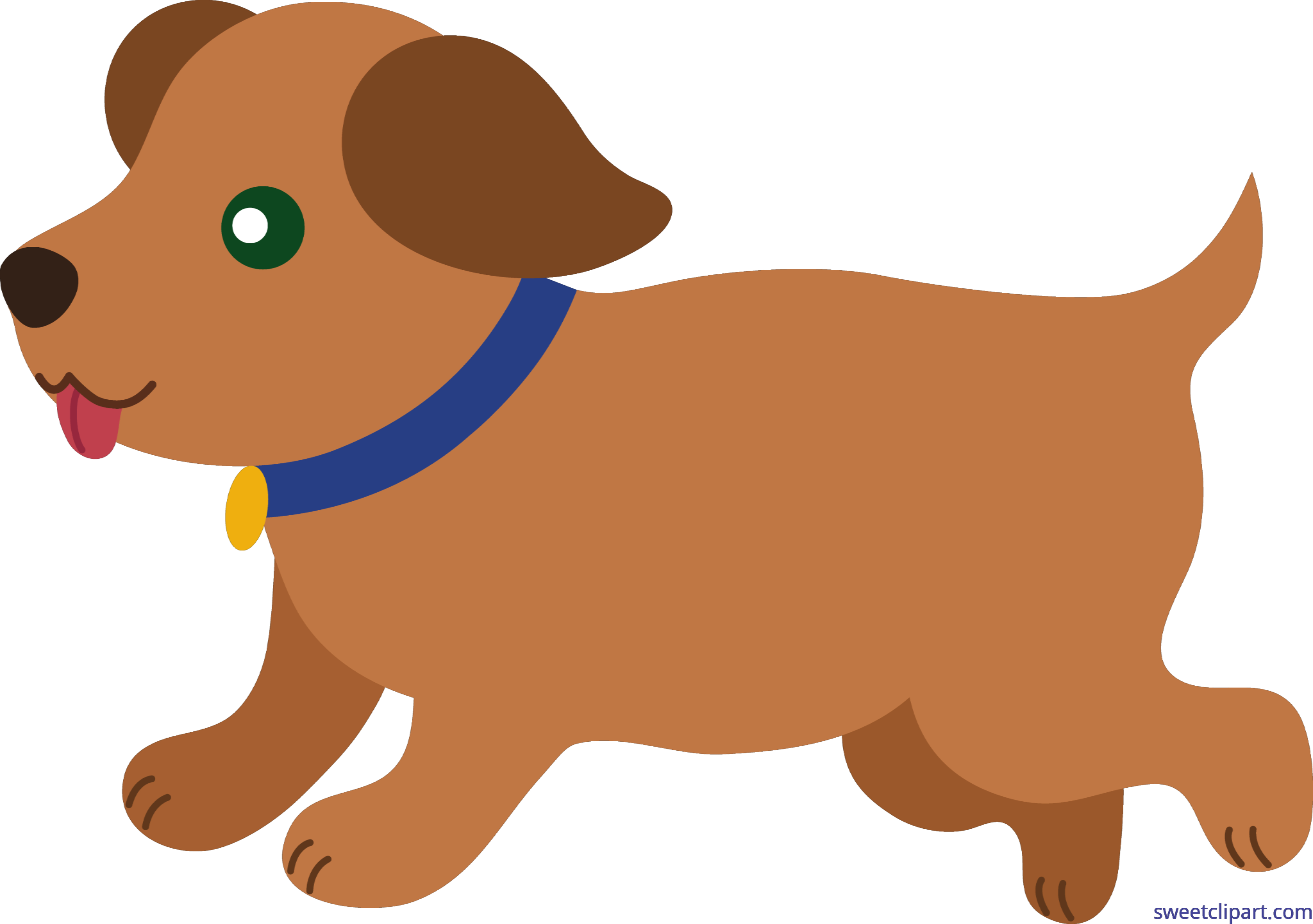 Puppy brown clip art. Pet clipart 5 dog