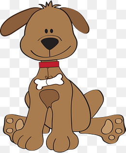 Dog station . Dogs clipart brown