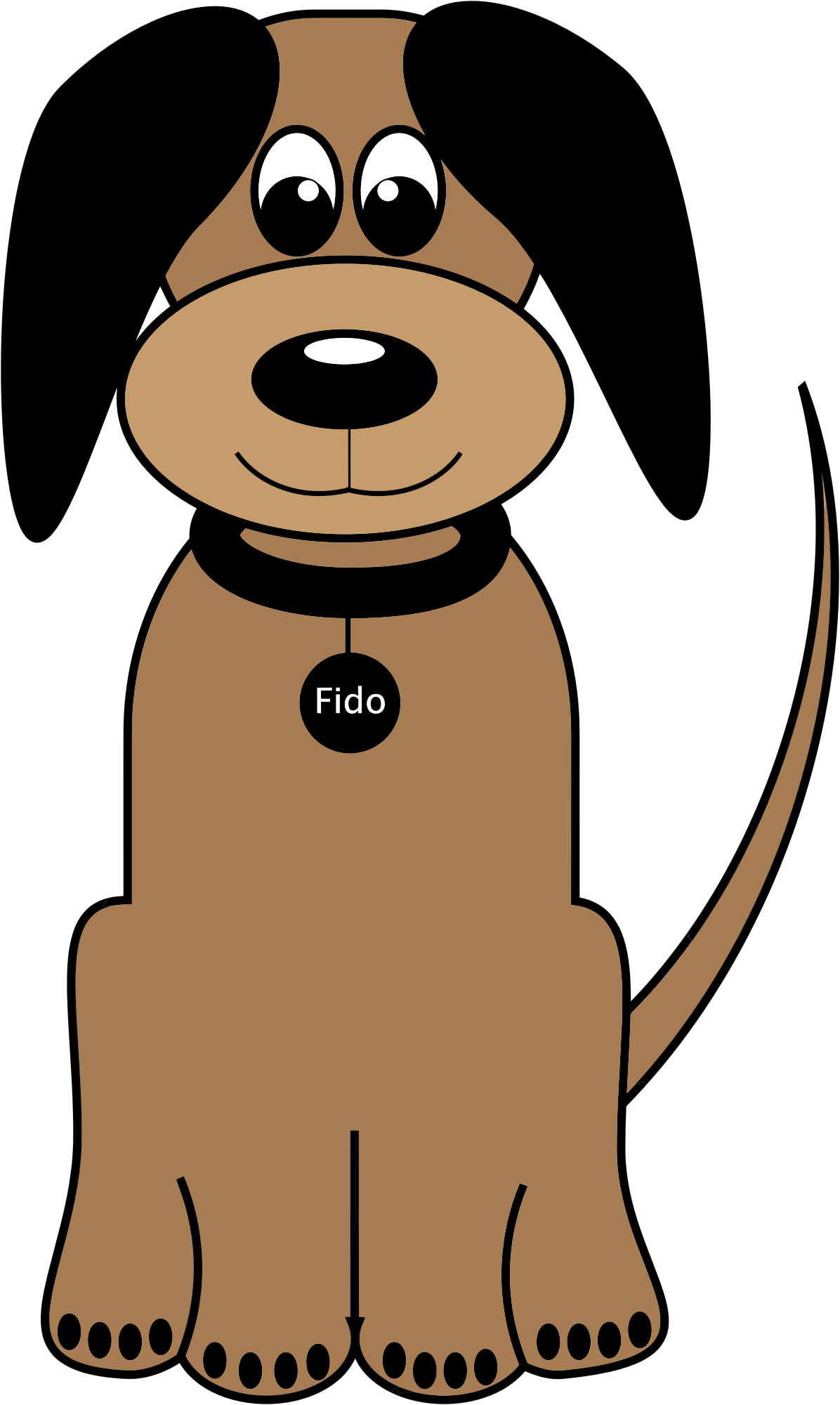 Dog fido. Pet clipart cartoon