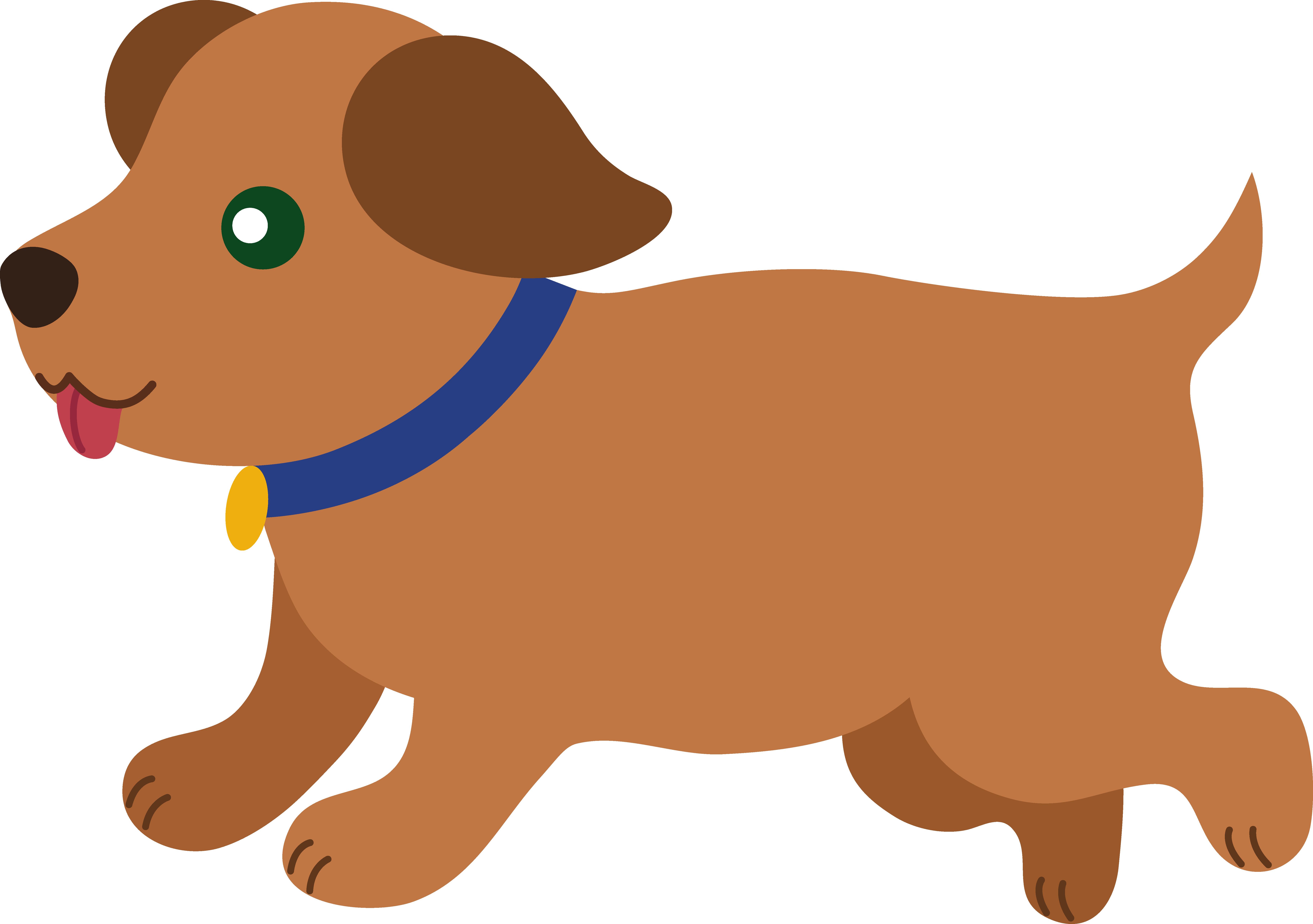 Winter clipart puppy. Modern cartoon dog