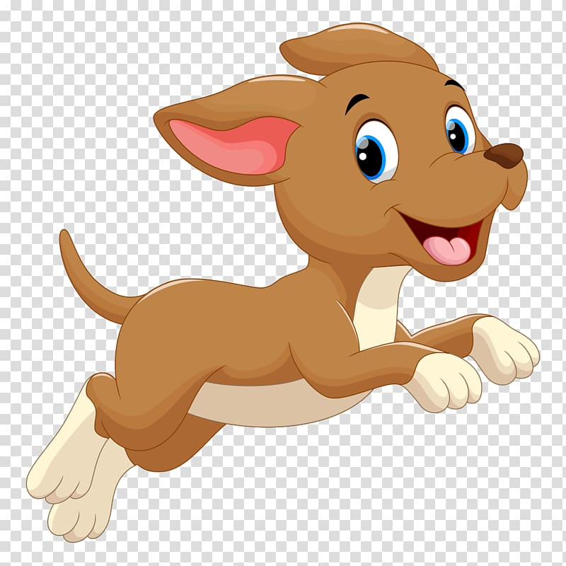 Brown dog illustration puppy. Clipart dogs clear background