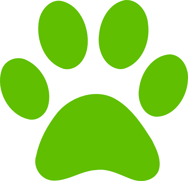 Dog print clip art. Pet clipart paw