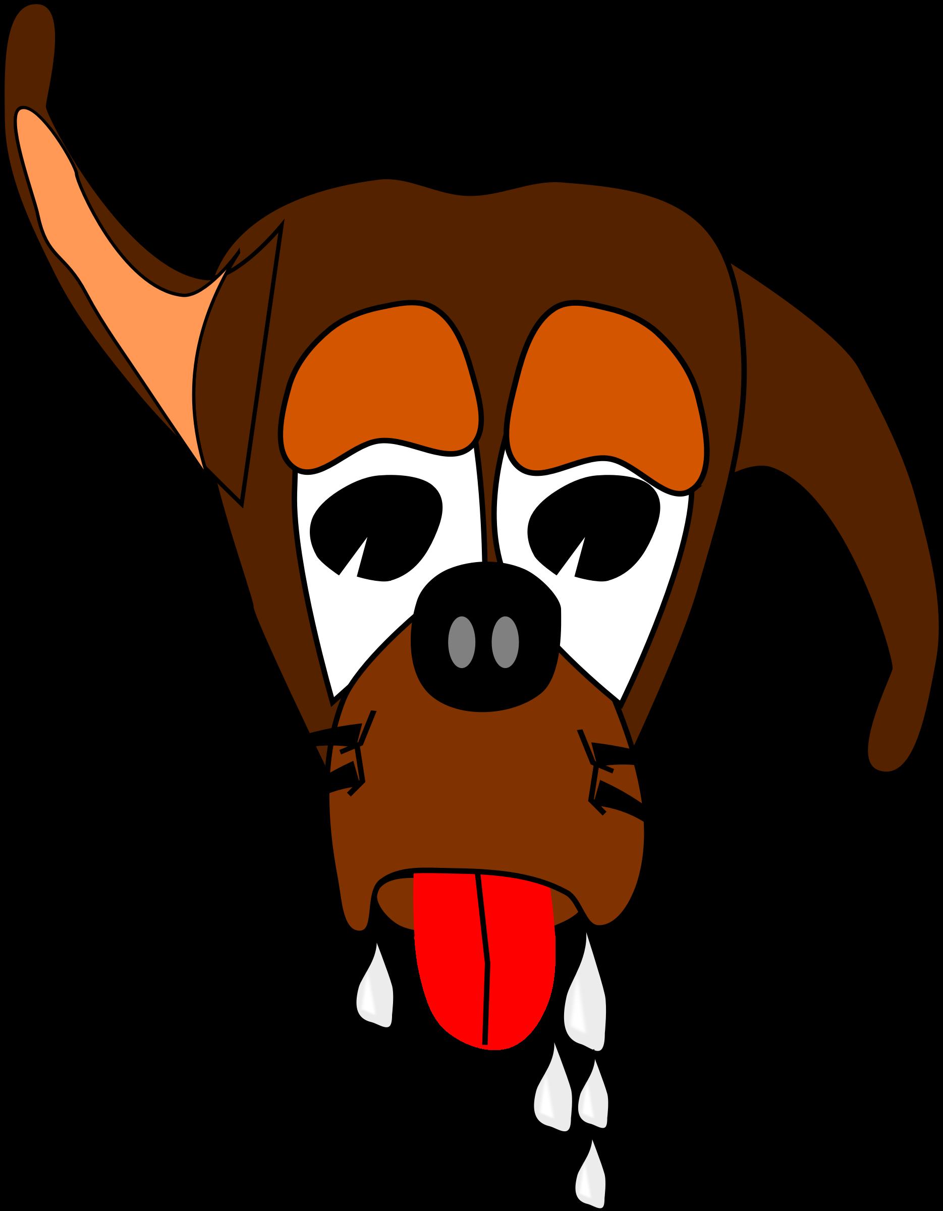 Clipart dogs cowboy. Salivating dog big image