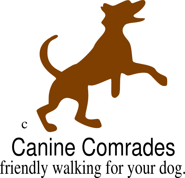 Dog walking clip art. Pet clipart logo