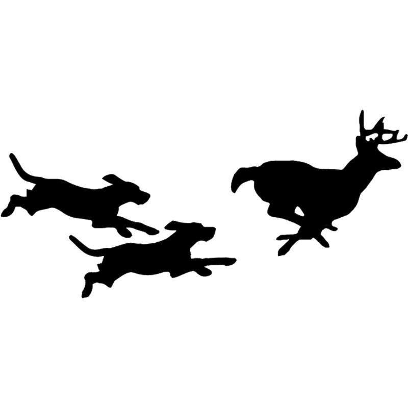 Dog silhouette . Clipart dogs deer