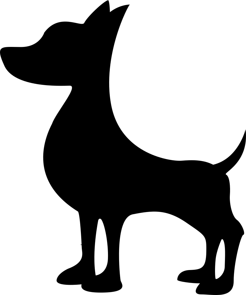 Dog silhouette at getdrawings. Clipart puppy svg