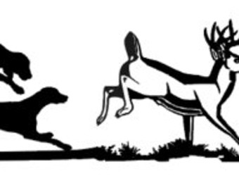 Clipart dogs deer. Hunting dog free download