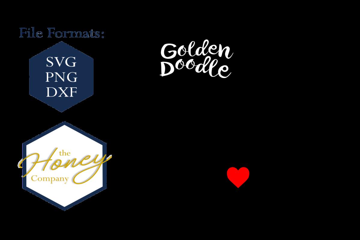 Golden svg png dxf. Dog clipart doodle