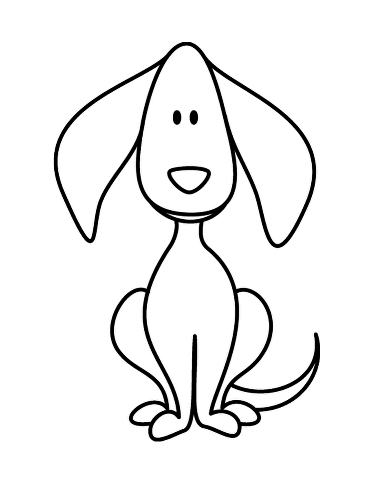 Dogs clipart easy. Puppy dog doodle coloring