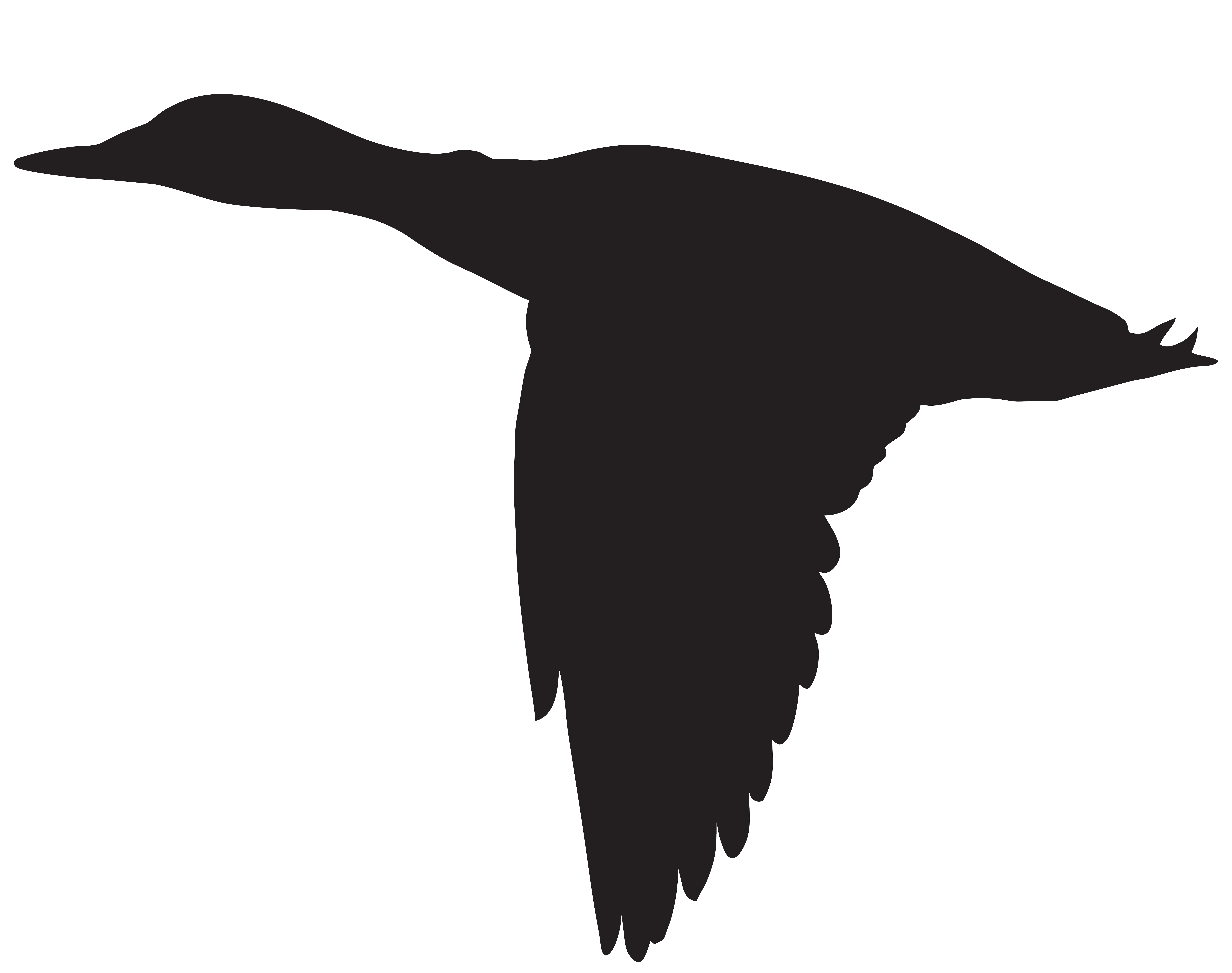 Hunter clipart three. Duck flying silhouette png