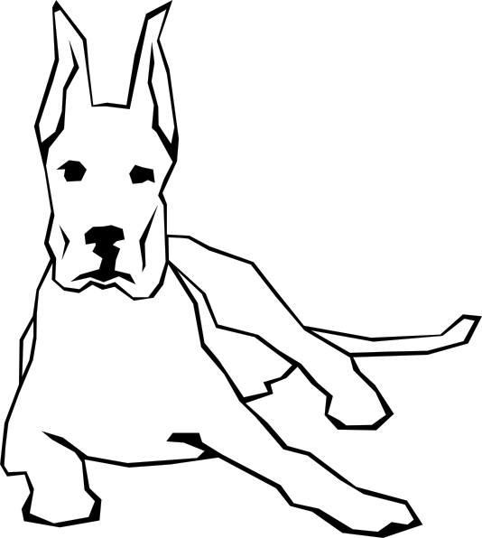 Dog simple drawing clip. Dogs clipart easy