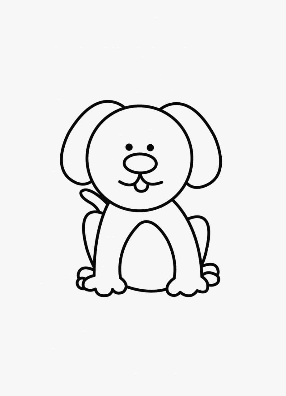 Small drawing download . Dog clipart easy